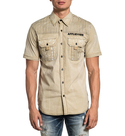 Articulate - Mens Button Down Tops - Affliction Clothing