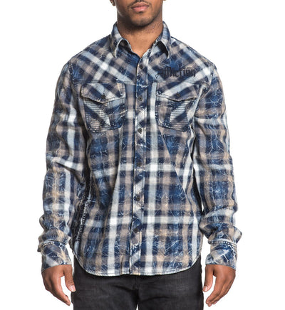 Burch - Mens Button Down Tops - Affliction Clothing