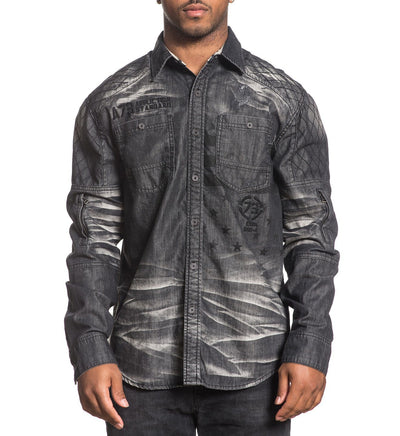Climate Control - Mens Button Down Tops - Affliction Clothing