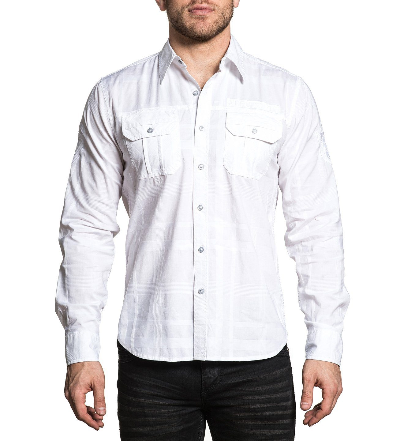 Commend - Mens Button Down Tops - Affliction Clothing