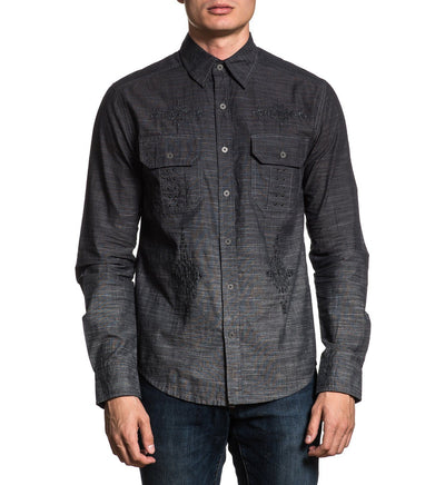 Distinct - Mens Button Down Tops - Affliction Clothing