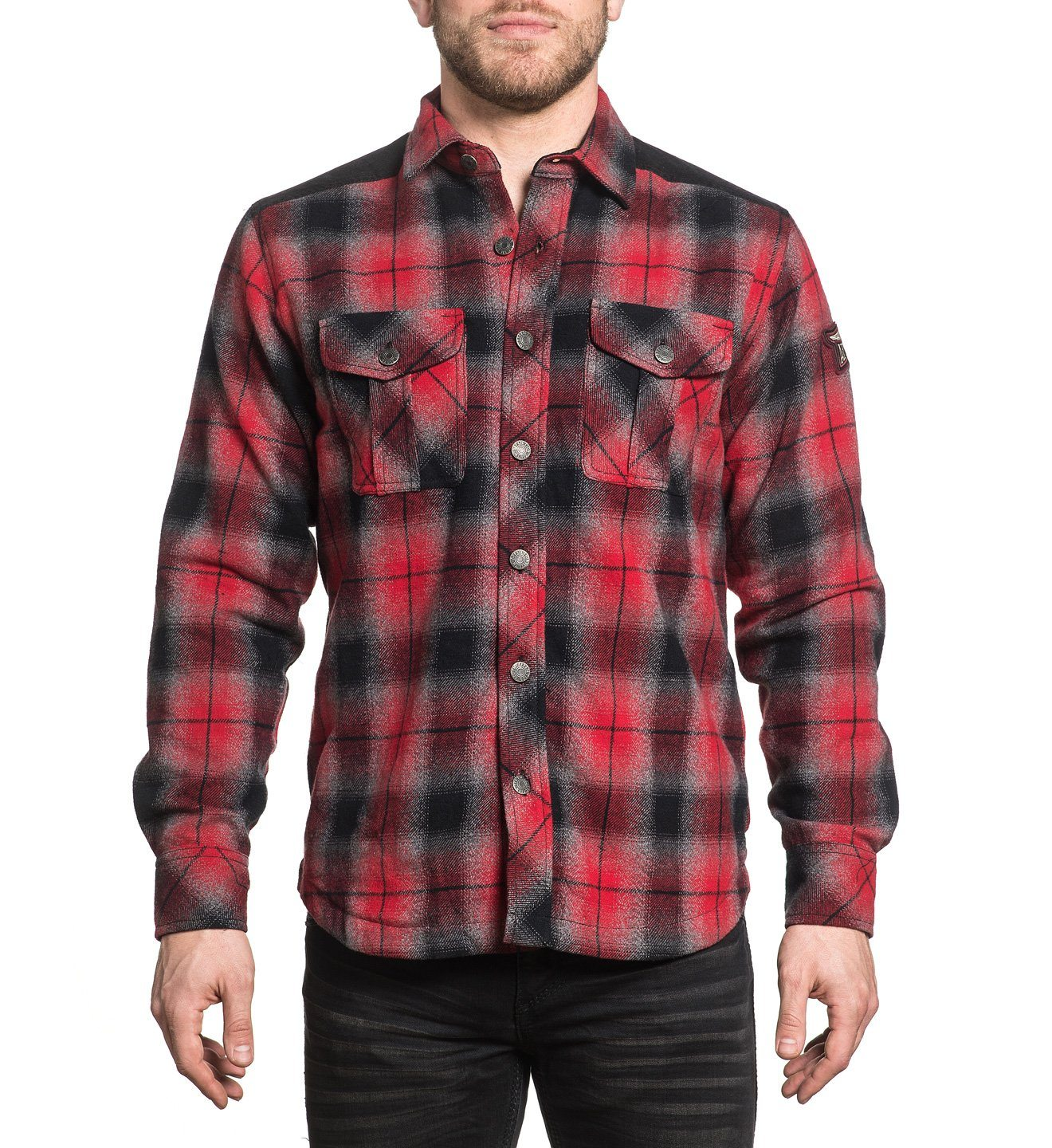 Emerson - Mens Button Down Tops - Affliction Clothing