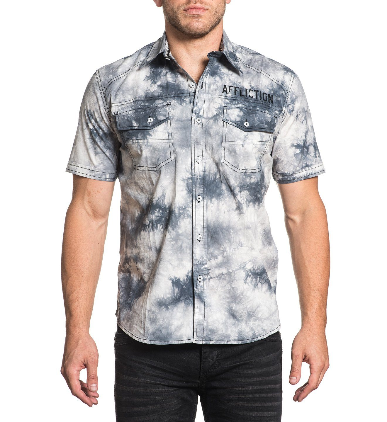 a7859533c3 Affliction Men s Short Sleeve Woven - Affliction Clothing