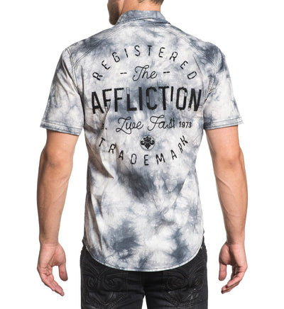 Flywheel - Mens Button Down Tops - Affliction Clothing