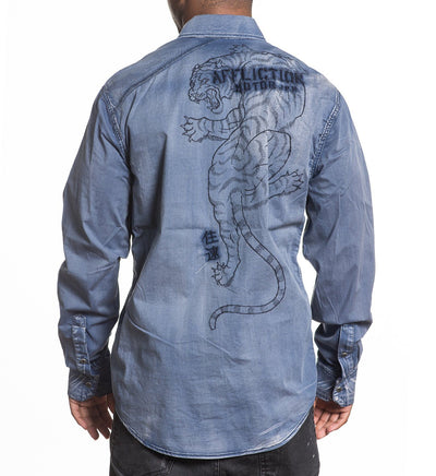 Heath - Mens Button Down Tops - Affliction Clothing