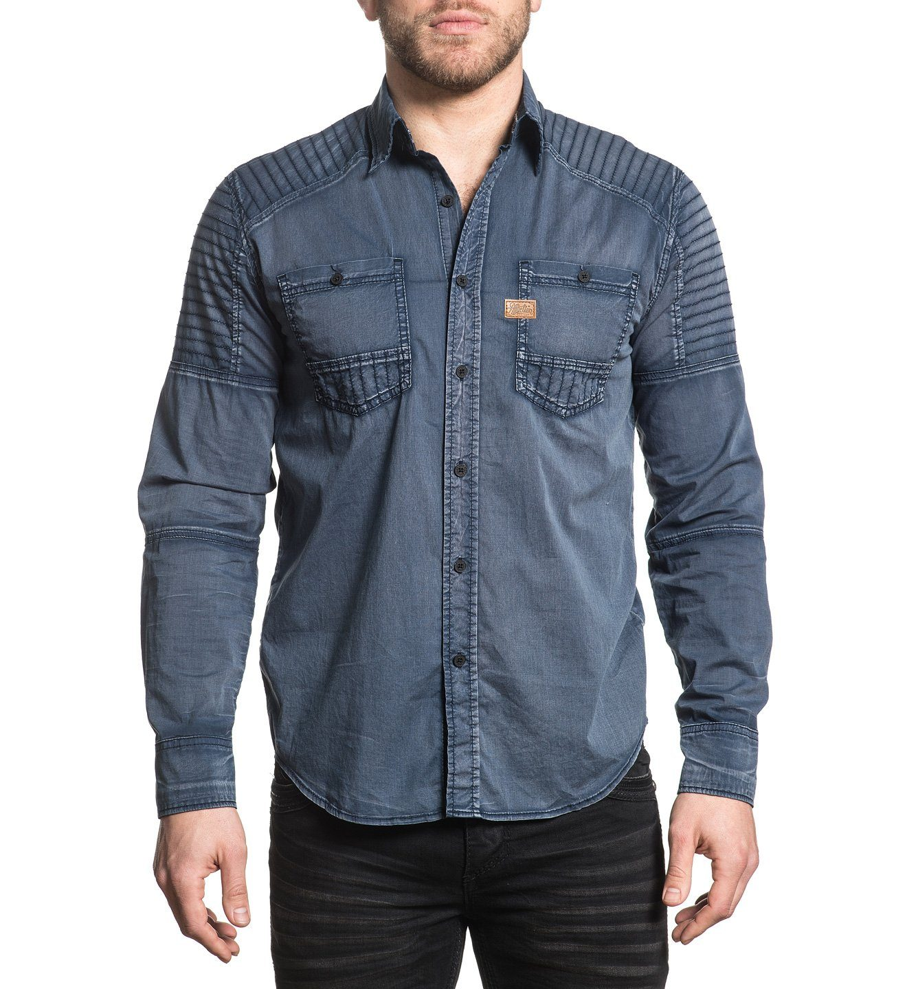 Mens Button Down Tops - Hell Bound