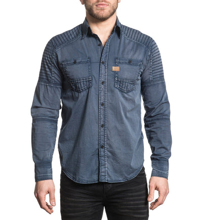 Hell Bound - Mens Button Down Tops - Affliction Clothing