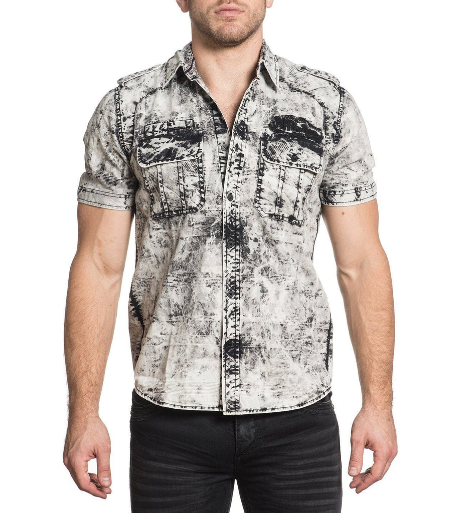 Mens Button Down Tops - High Octane