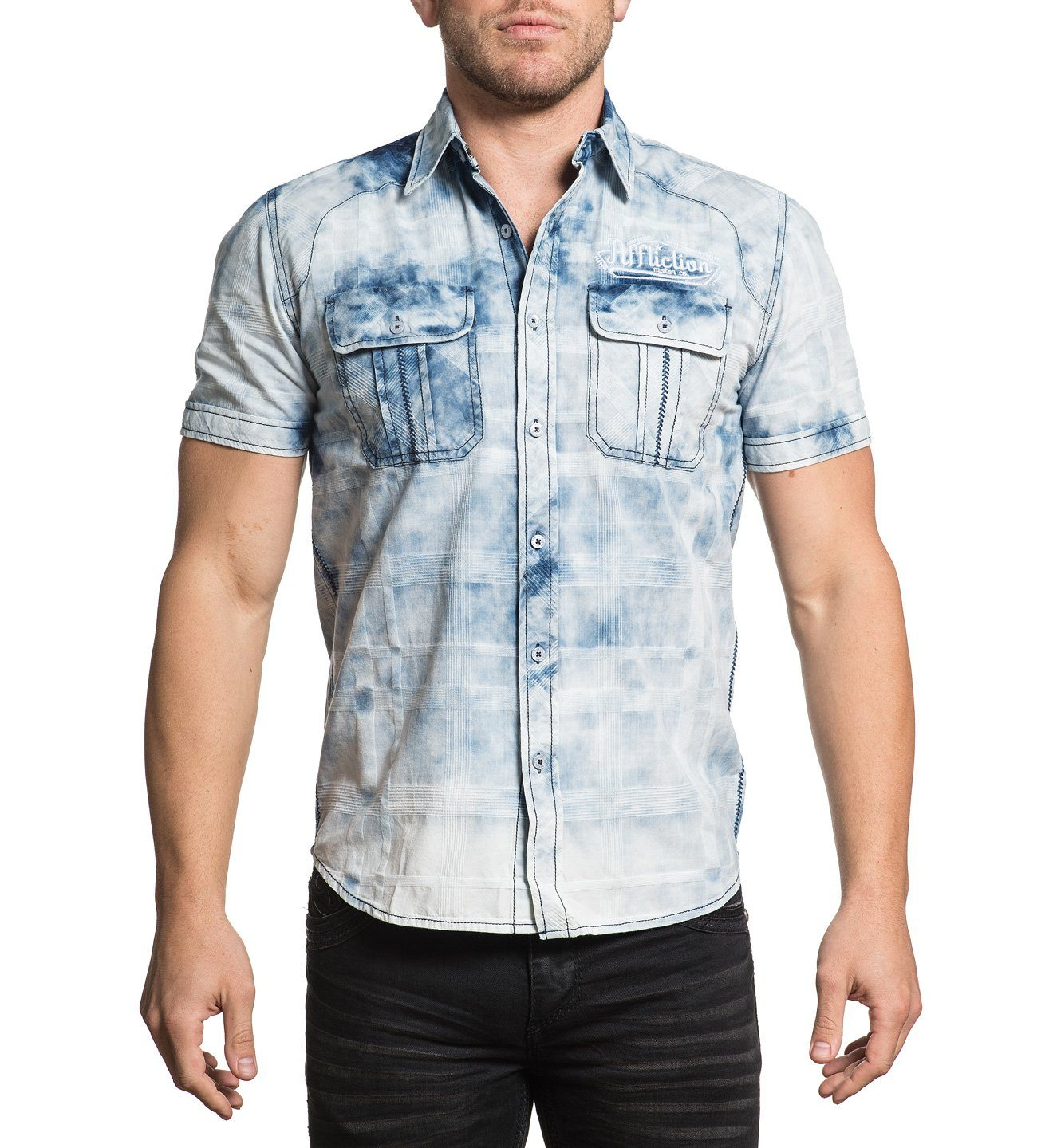Idle - Mens Button Down Tops - Affliction Clothing