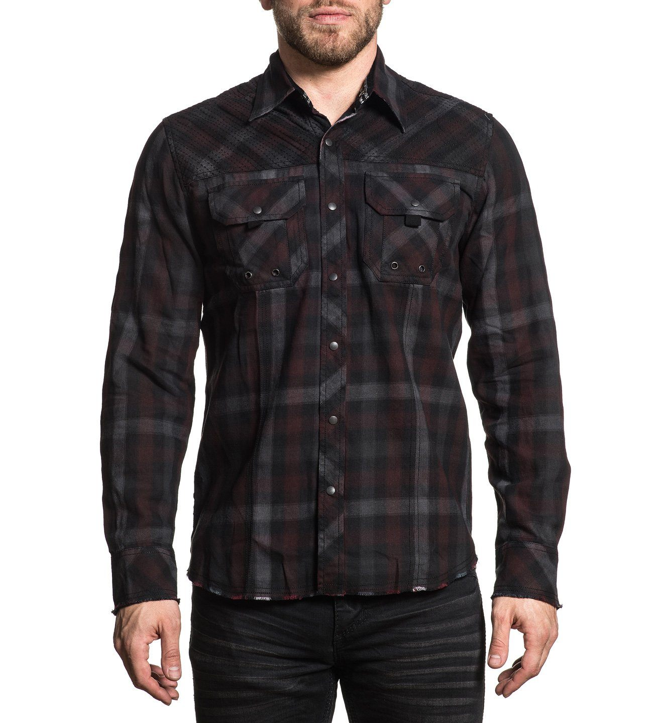 Mogul - Mens Button Down Tops - Affliction Clothing