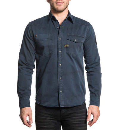 Mens Button Down Tops - Power Of Blue