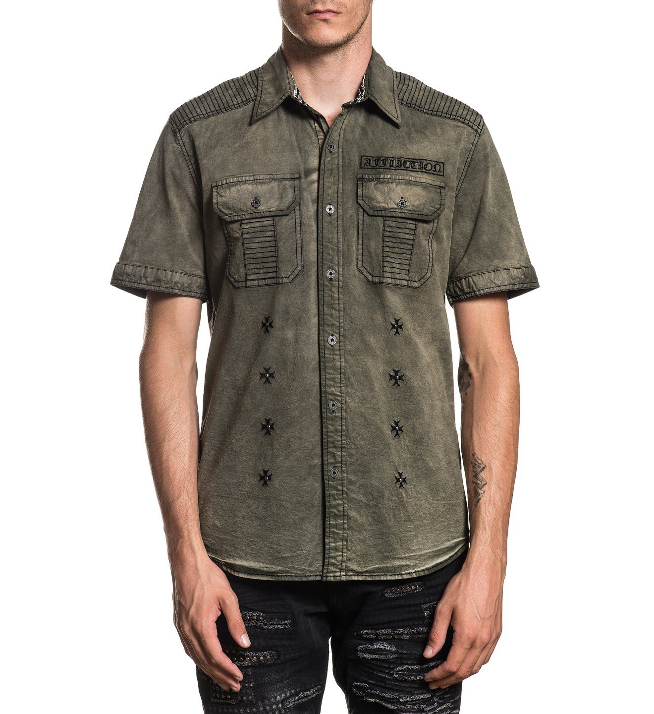 Reprieve - Mens Button Down Tops - Affliction Clothing