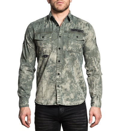 Revive - Mens Button Down Tops - Affliction Clothing