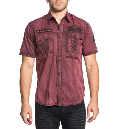 Rusk - Mens Button Down Tops - Affliction Clothing