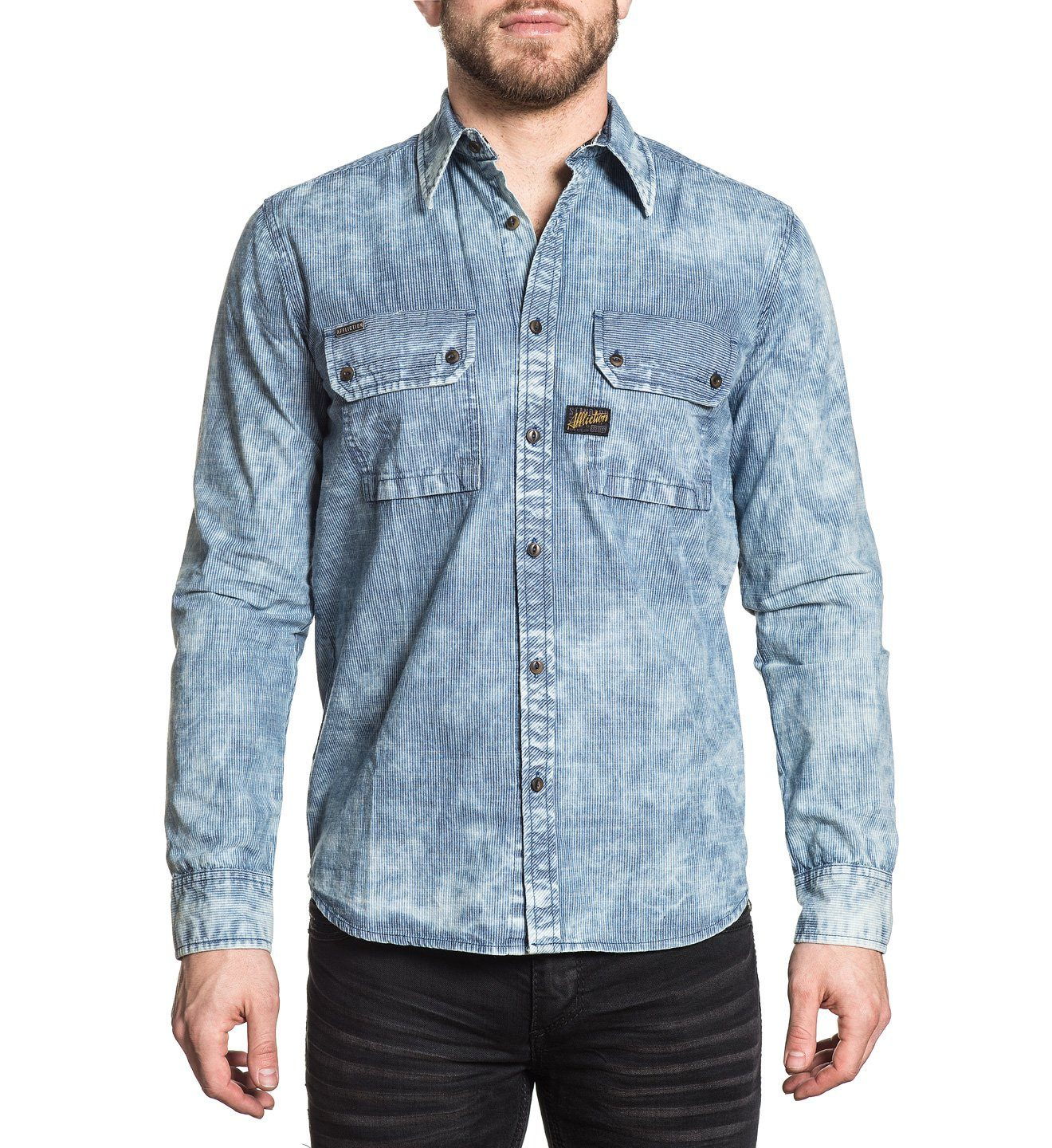 Sunset Blues - Mens Button Down Tops - Affliction Clothing