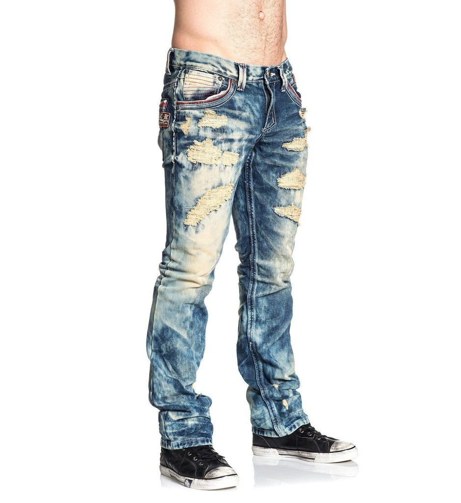 Mens Denim Bottoms - Ace Fallen Trevorton Bleach