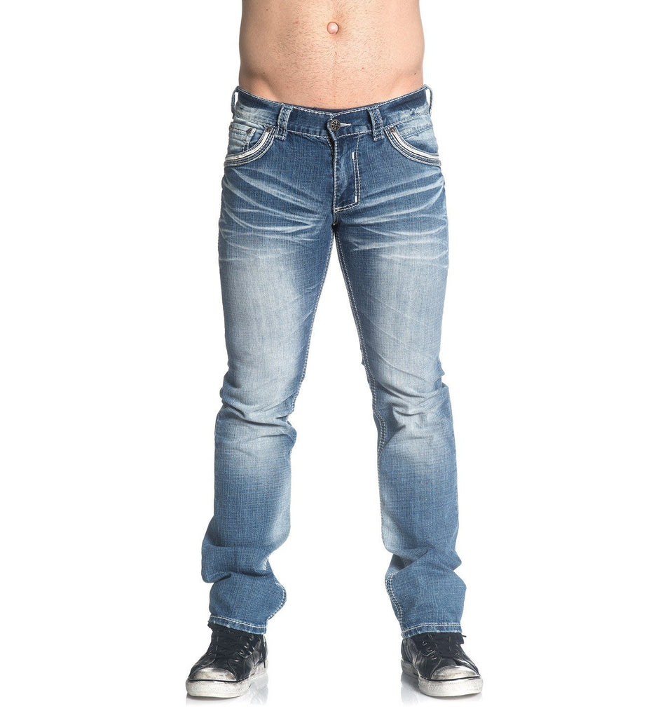 Mens Denim Bottoms - Ace Fleur Chicago
