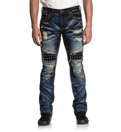 Ace Fleur Figaro - Mens Denim Bottoms - Affliction Clothing