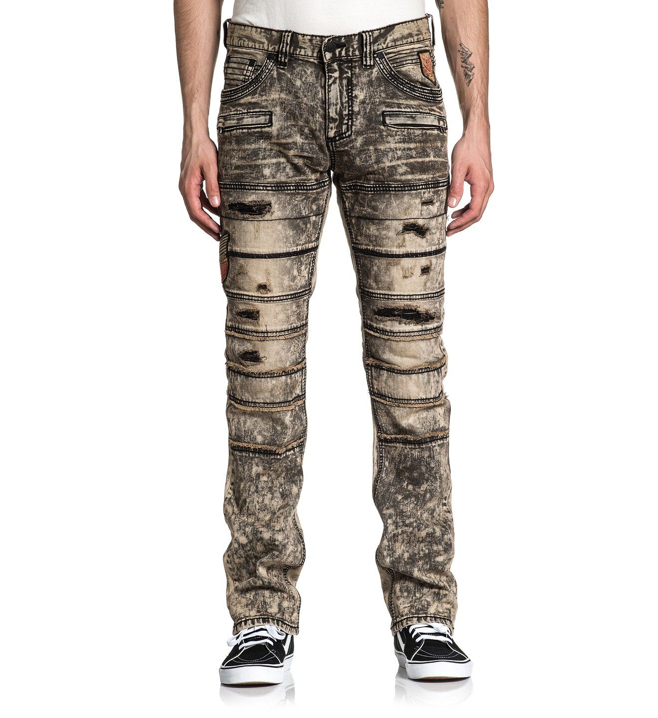 Ace Rising Sable - Mens Denim Bottoms - Affliction Clothing
