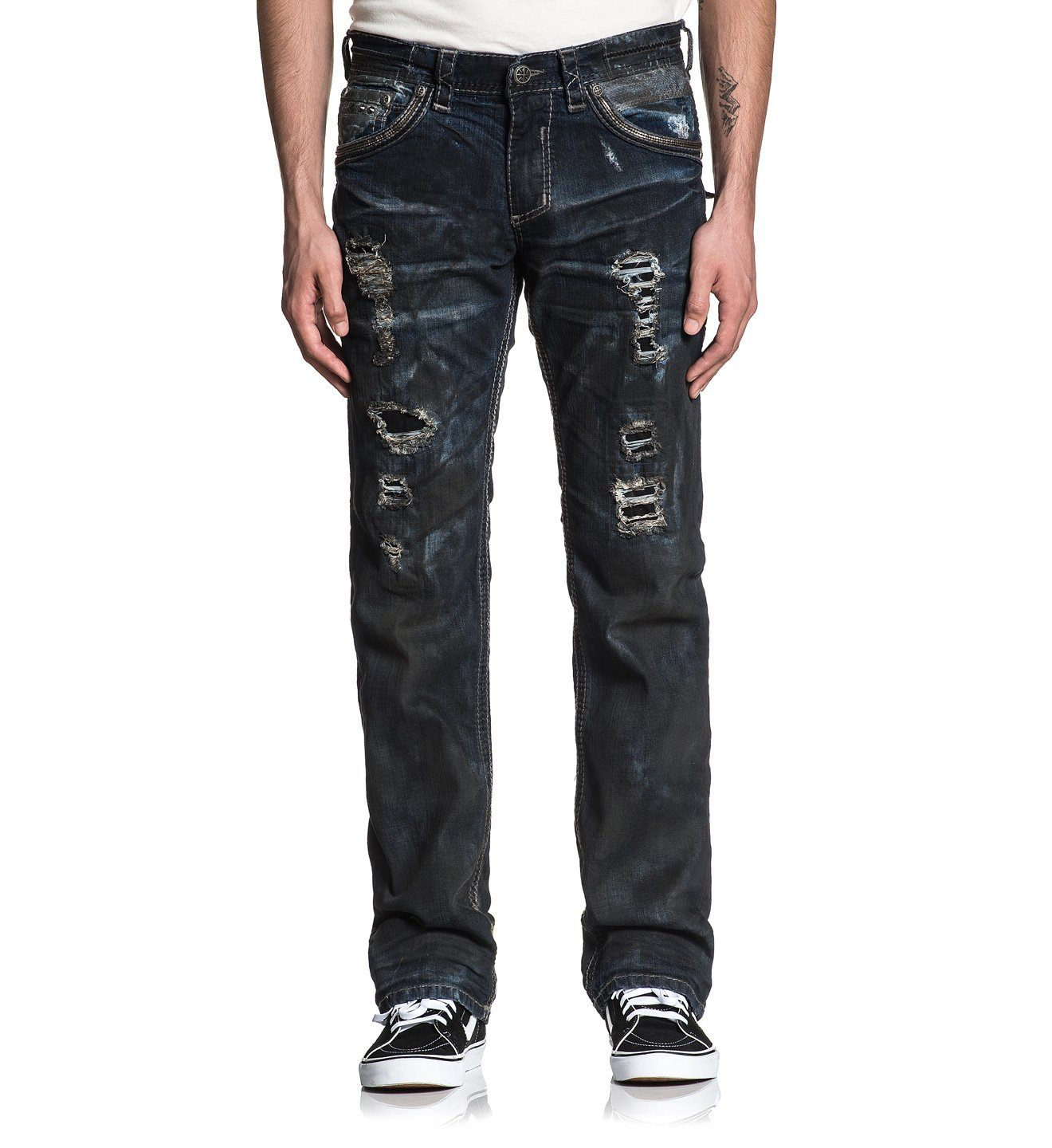 Blake Fleur Enzo - Mens Denim Bottoms - Affliction Clothing