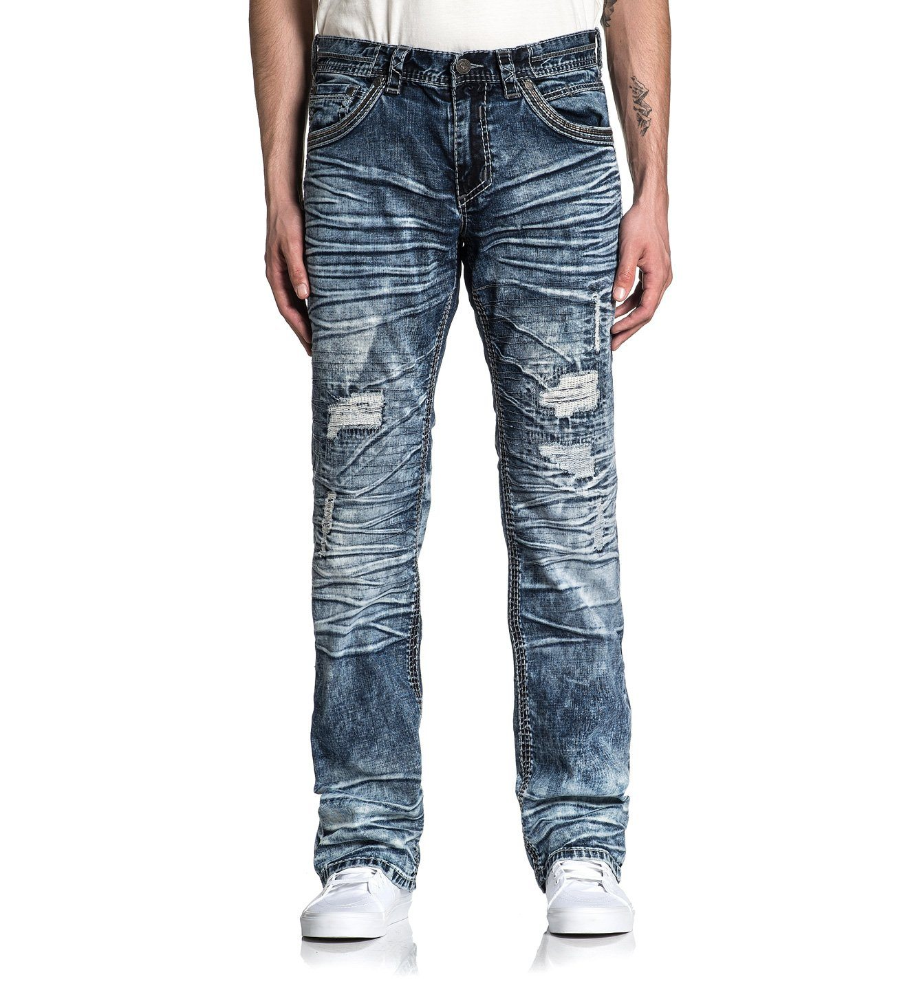 Blake Fleur Quincy - Mens Denim Bottoms - Affliction Clothing