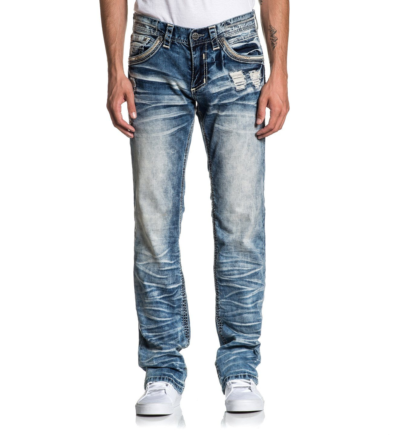 Blake Fleur Ruston - Mens Denim Bottoms - Affliction Clothing