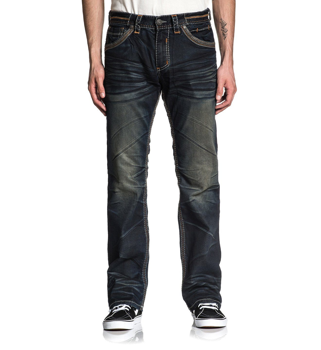 Blake Fleur Spago - Mens Denim Bottoms - Affliction Clothing
