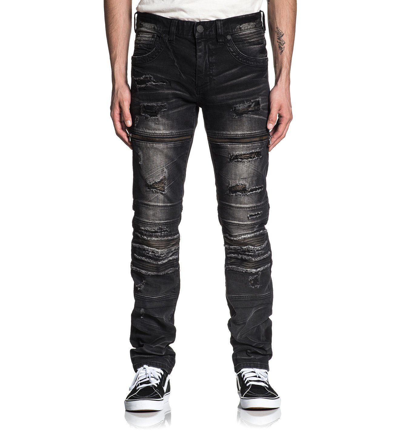 Gage Fallen Jasper - Mens Denim Bottoms - Affliction Clothing