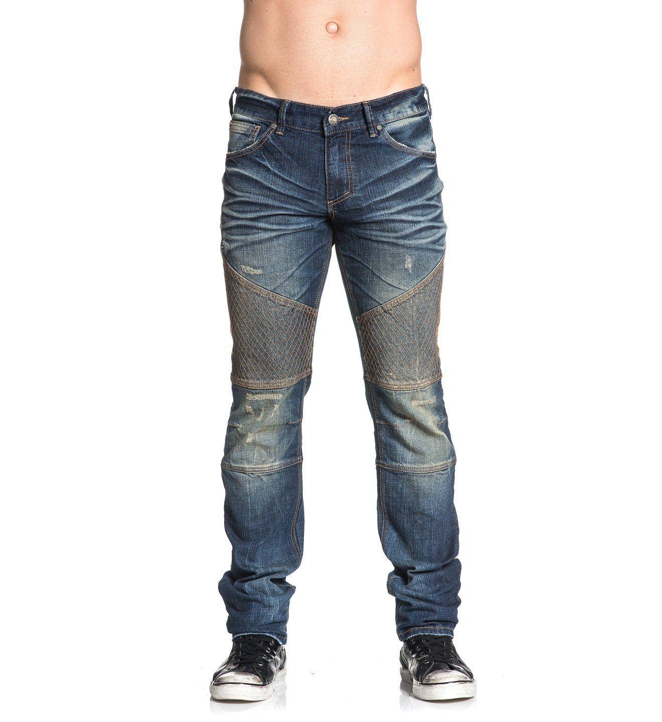 Gage Grid Malibu - Mens Denim Bottoms - Affliction Clothing