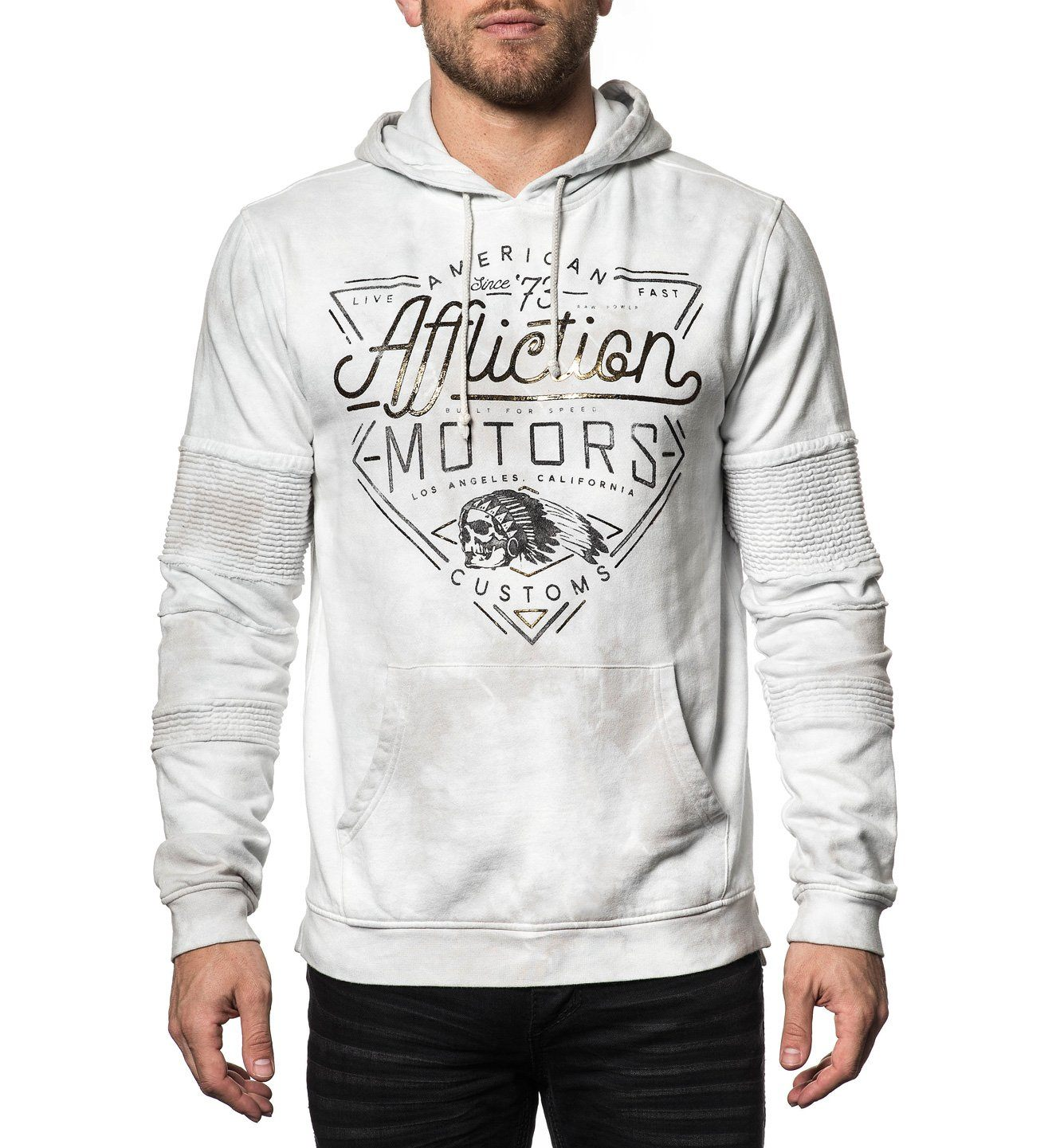 Ac Cali Motors P/O Hood - Mens Hooded Sweatshirts - Affliction Clothing