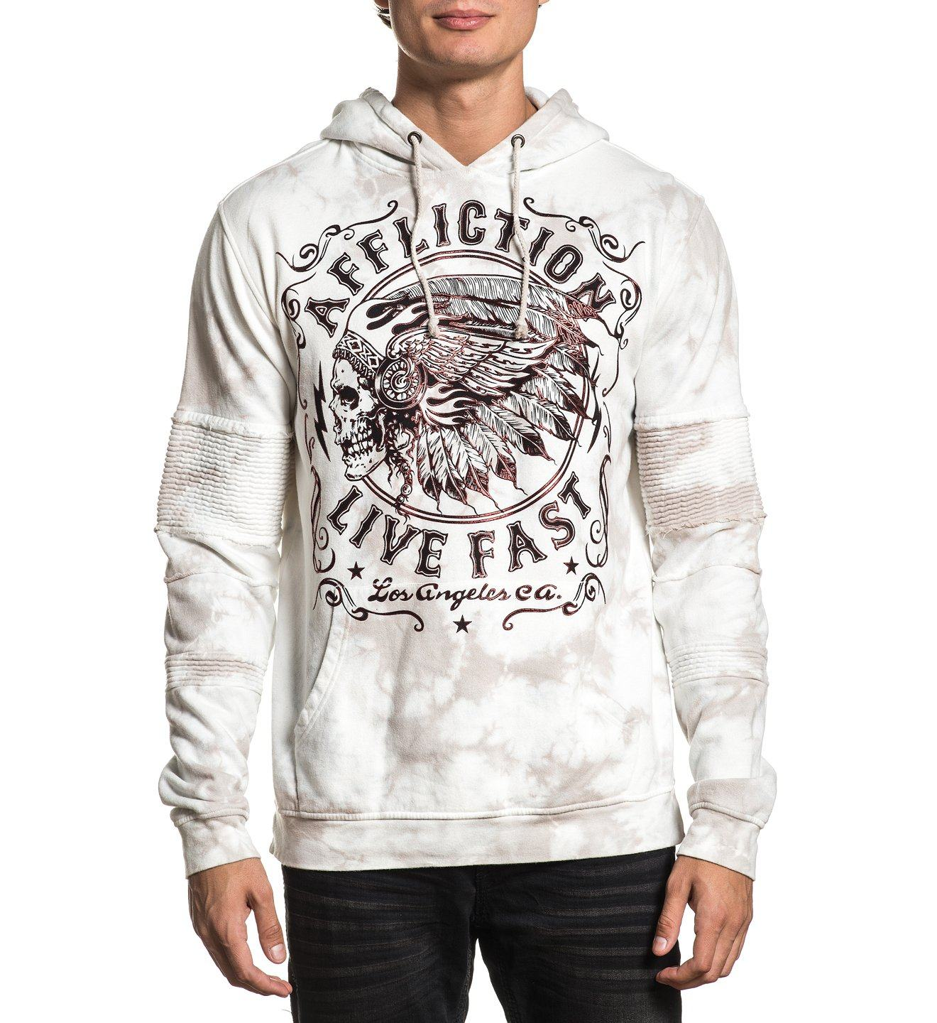 Apache Motors P/O Hood - Mens Hooded Sweatshirts - Affliction Clothing