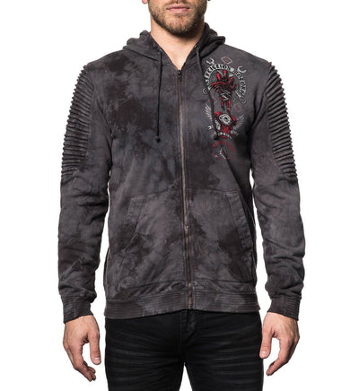 Mens Hooded Sweatshirts - Bad Luck Motors