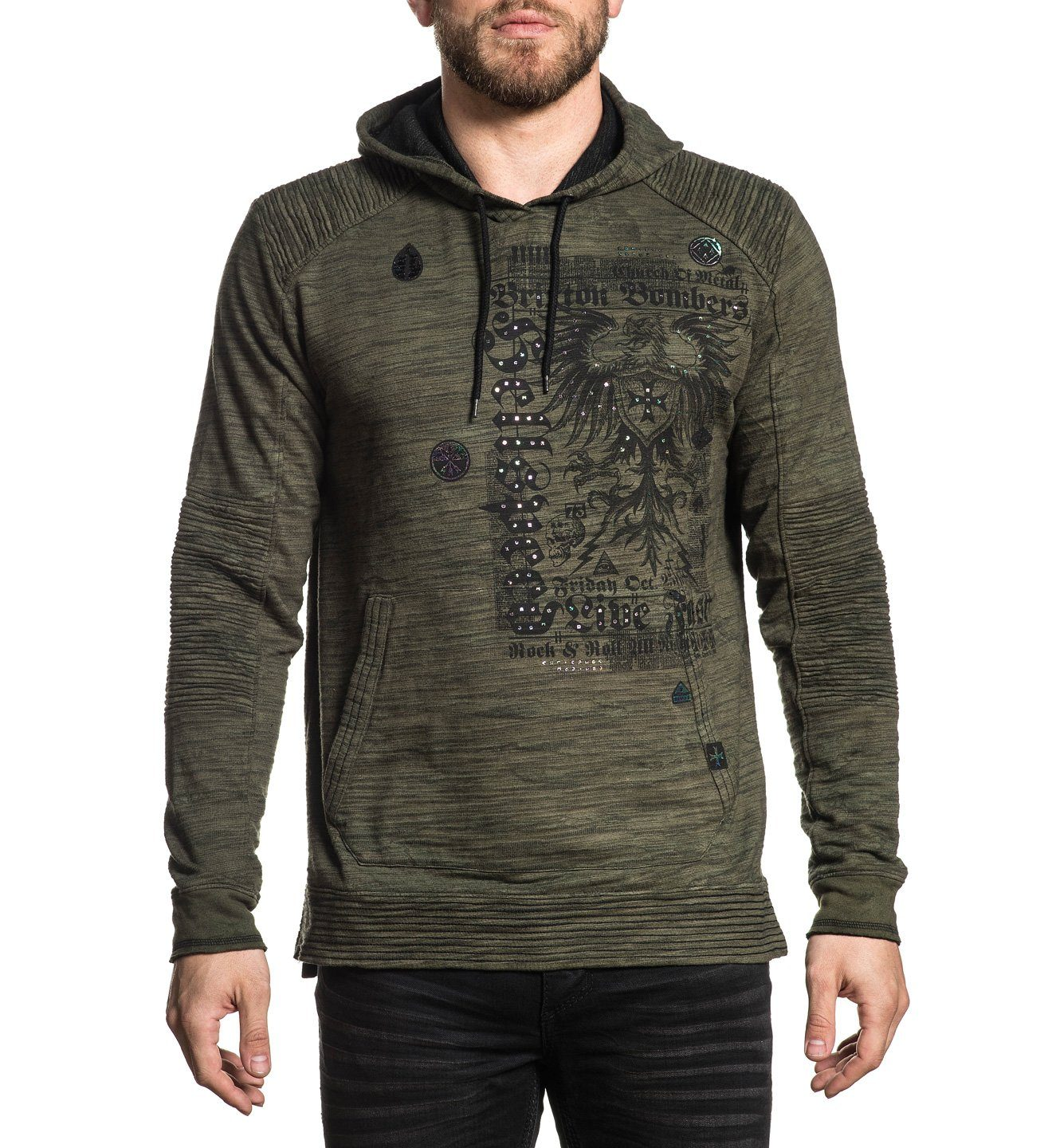 Metal Church - Mens Hooded Sweatshirts - Affliction Clothing