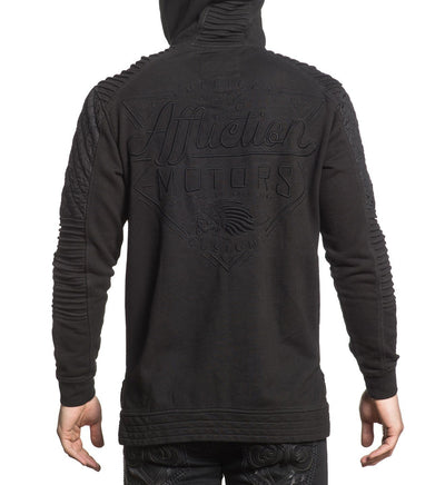 Sanction Zip Hood - Mens Hooded Sweatshirts - Affliction Clothing