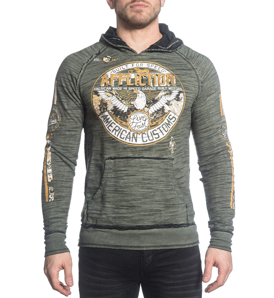 Mens Hooded Sweatshirts - Thunderbird