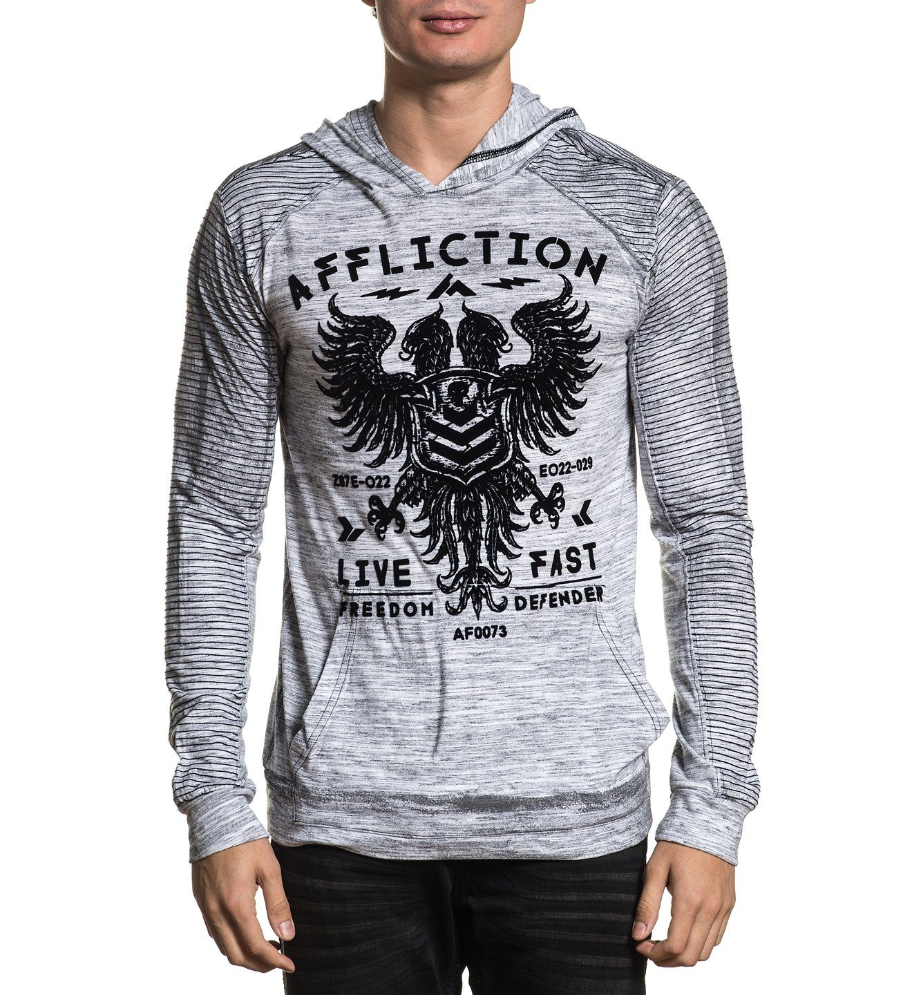 Value Freedom Dusk P/O Hood - Mens Hooded Sweatshirts - Affliction Clothing