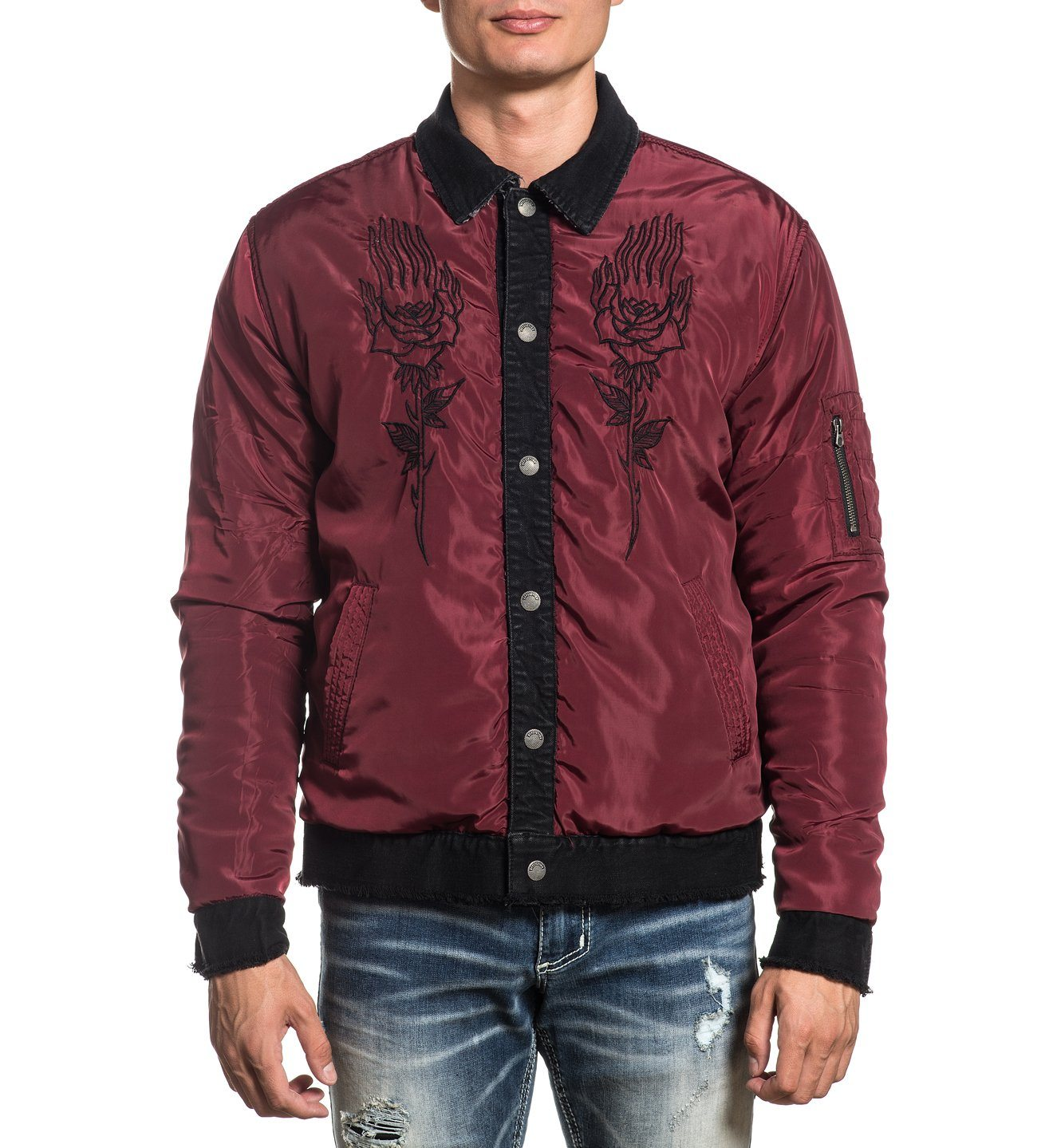 Gridlock Jacket - Reversible - Mens Jackets - Affliction Clothing