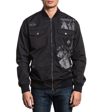 Manifest Bomber Jacket - Mens Jackets - Affliction Clothing