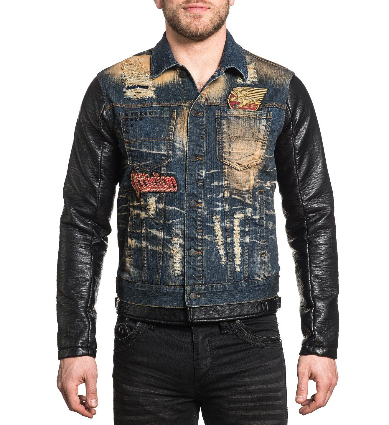 Morrison Trucker Jacket - Mens Jackets - Affliction Clothing