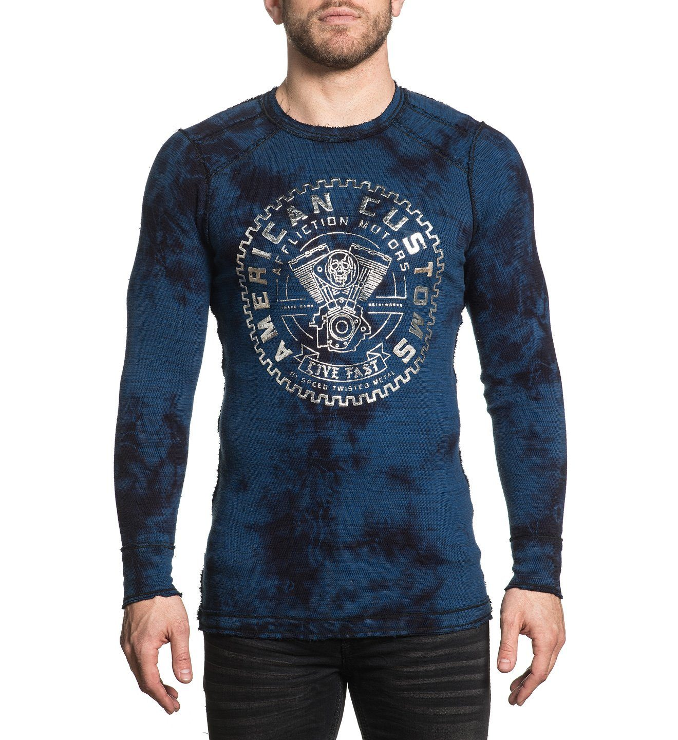Ac Cannonball - Mens Long Sleeve Tees - Affliction Clothing