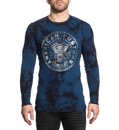 Mens Long Sleeve Tees - Ac Cannonball