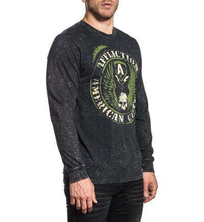 Ac Flag - Mens Long Sleeve Tees - Affliction Clothing