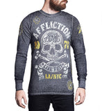 Mens Long Sleeve Tees - AC Skull