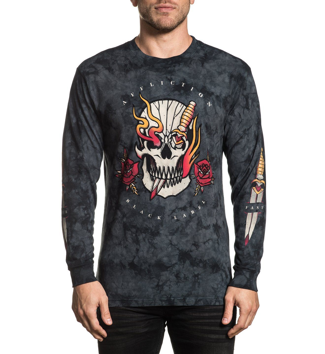 Bar Fight - Mens Long Sleeve Tees - Affliction Clothing
