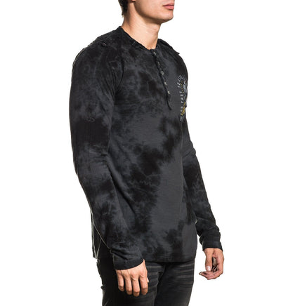 Black Crow - Mens Long Sleeve Tees - Affliction Clothing