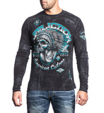 Mens Long Sleeve Tees - Bull Run Chrome