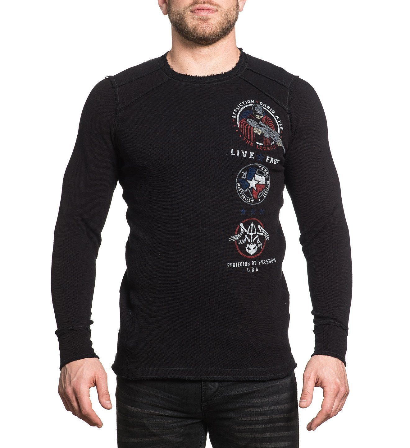 Ck Veteran - Mens Long Sleeve Tees - Affliction Clothing