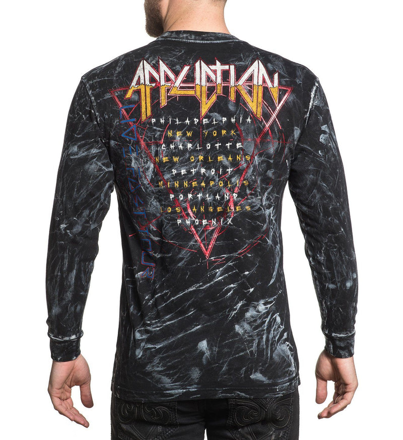Dysmorphia - Mens Long Sleeve Tees - Affliction Clothing