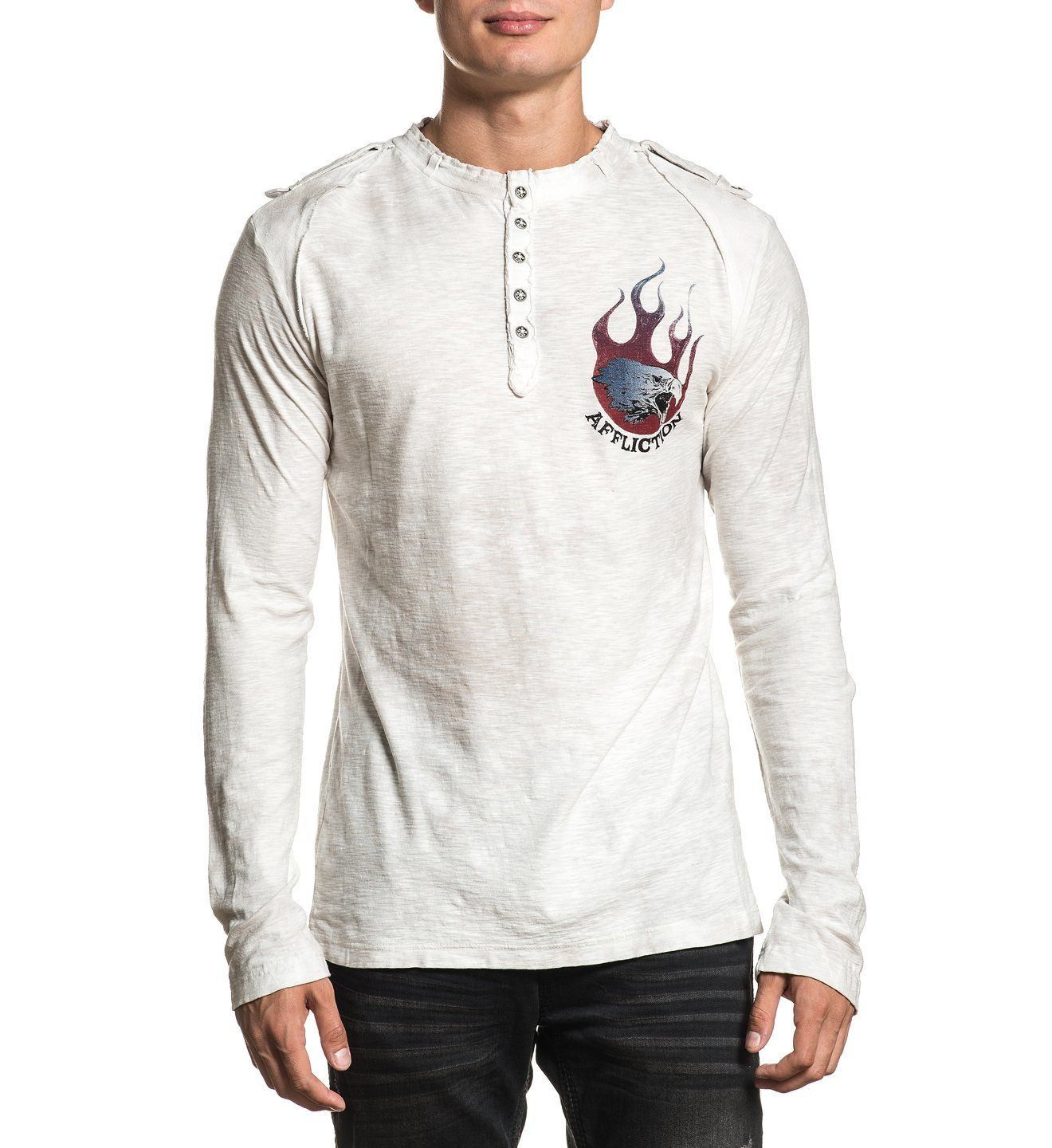 Mens Long Sleeve Tees - Fire