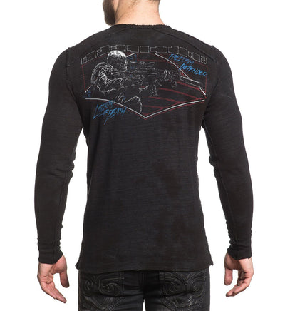 Full Metal Jacket - Reversible - Mens Long Sleeve Tees - Affliction Clothing